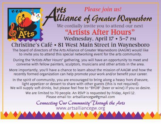 artist afterhoursinvite