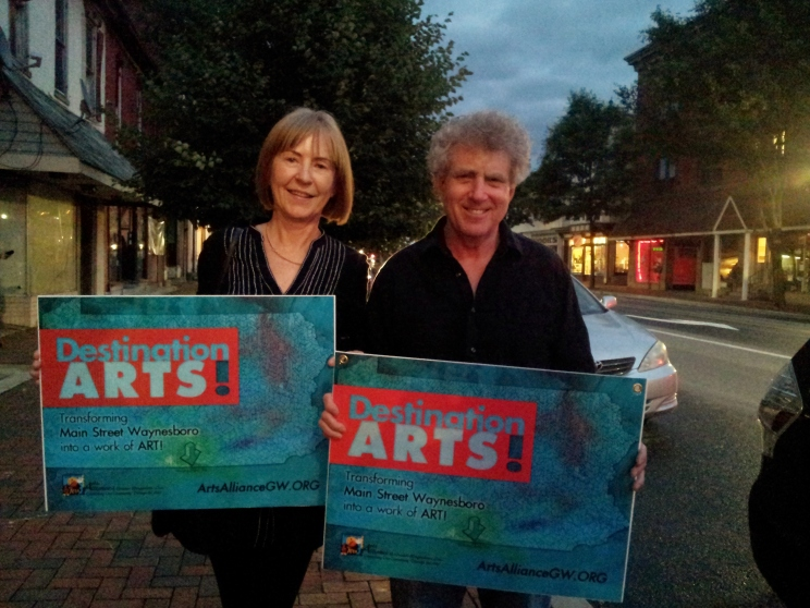 Andrew & Sally Sussman with the newly printed DA signs -- soon to appear along Main Street!