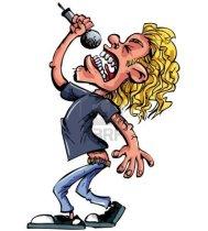 Cartoon Rock Singer