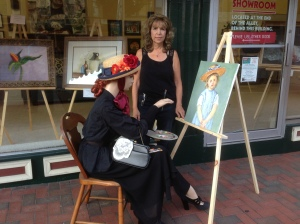 Donna Bingaman and her recreation of Mary Cassatt
