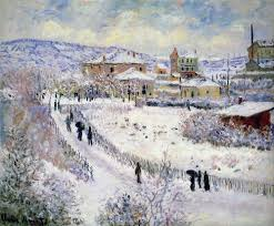 Claude Monet snow