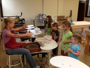 Nickole Bricker teaching Children's Class