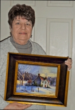 Laura Shindle Holding Oil Landscape