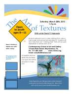 Art of Rubbings Waynesboro ages 8-11 flyer