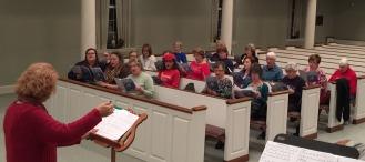 Combined Church Choir rehearsal
